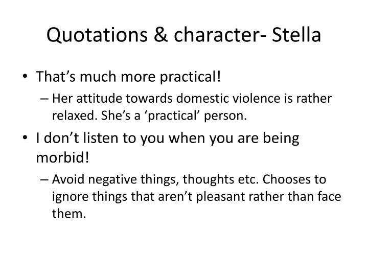 Quotations character stella