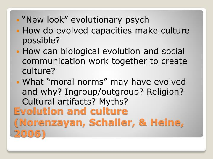 """New look"" evolutionary psych"