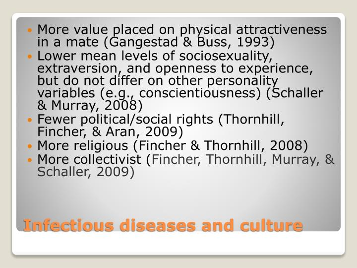 More value placed on physical attractiveness in a mate (