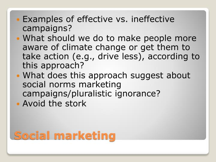 Examples of effective vs. ineffective campaigns?
