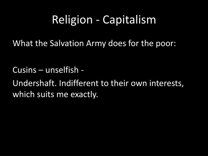 Religion - Capitalism