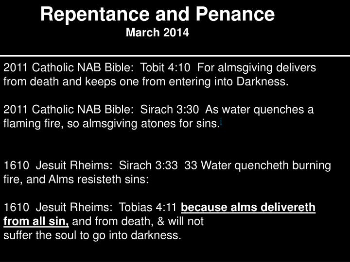 Repentance and Penance