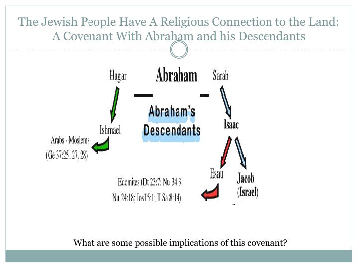 The Jewish People Have A Religious Connection to the Land: A Covenant With Abraham and his Descendants