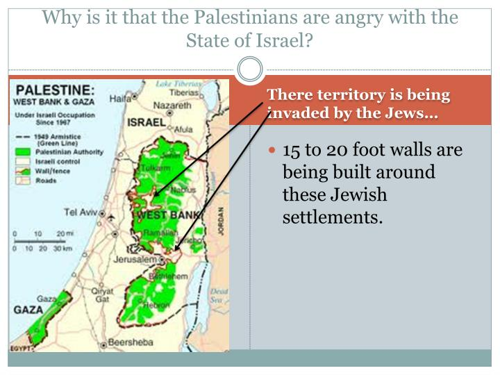 Why is it that the Palestinians are angry with the State of Israel?