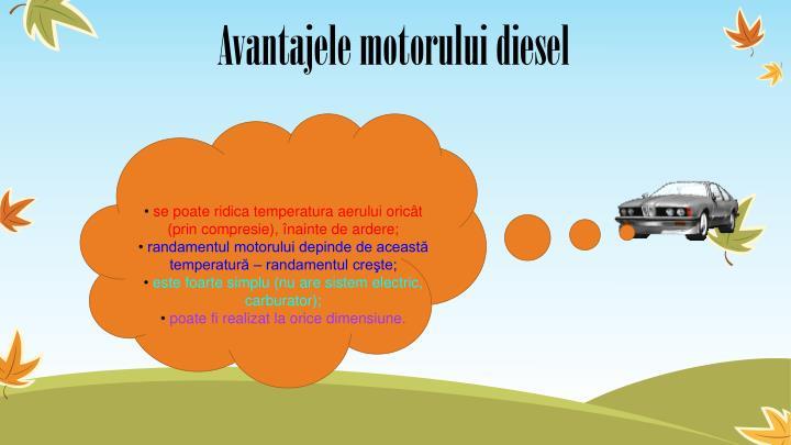 Avantajele motorului diesel