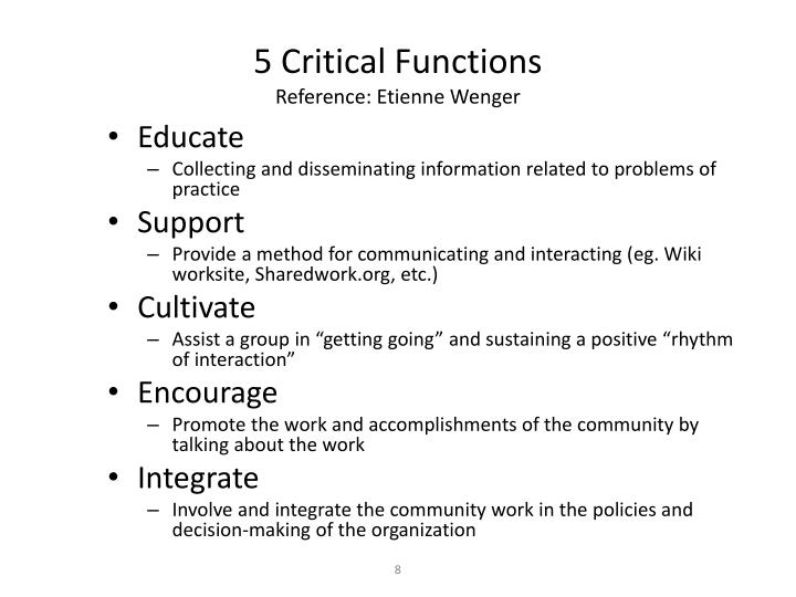 5 Critical Functions