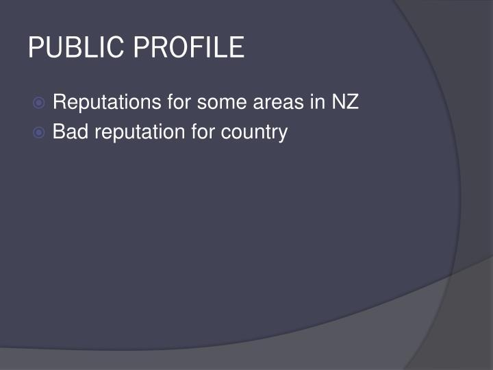 PUBLIC PROFILE