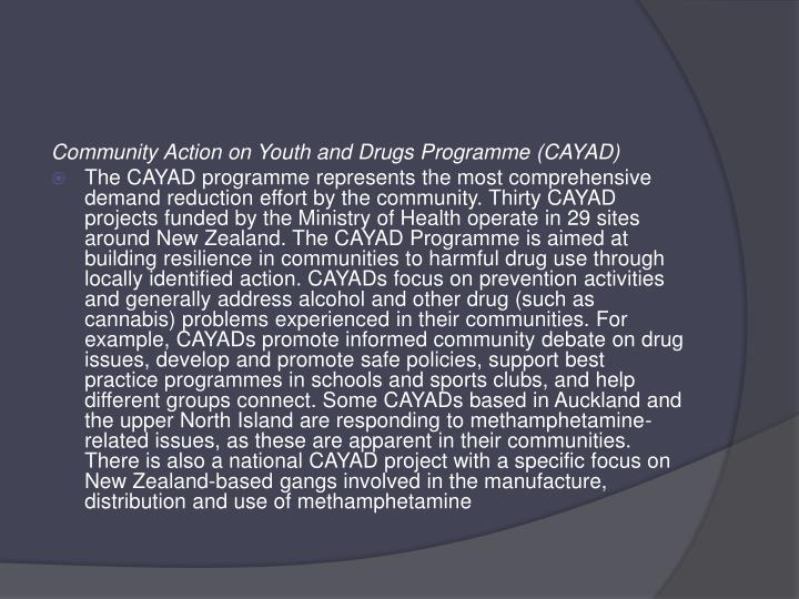Community Action on Youth and Drugs Programme (CAYAD)
