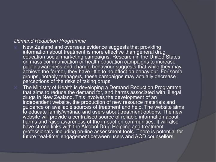 Demand Reduction Programme