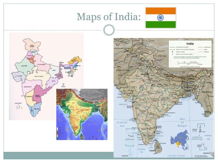 Maps of India: