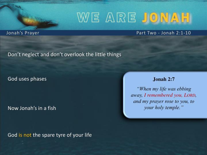 Jonah's Prayer