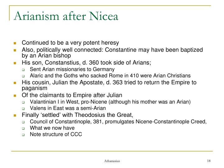 Arianism after Nicea