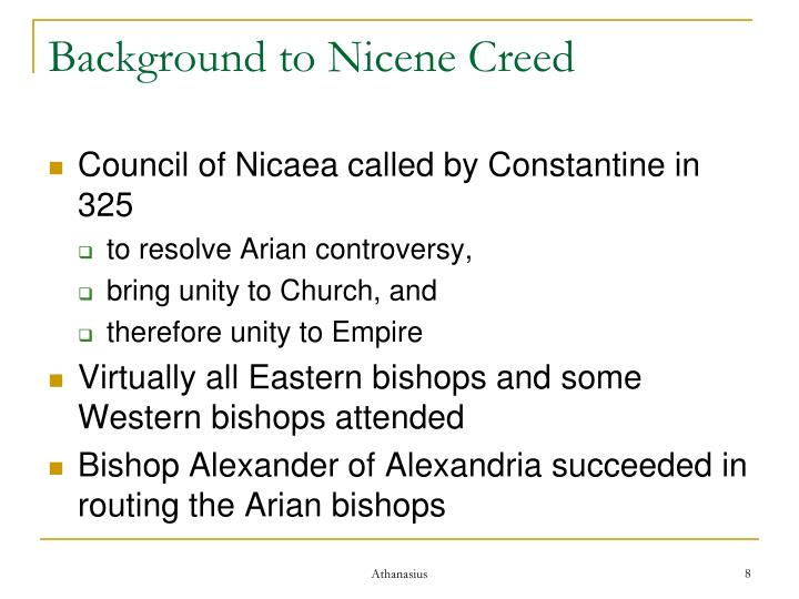 Background to Nicene Creed