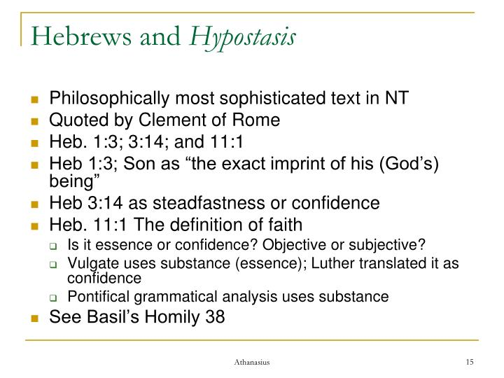 Hebrews and
