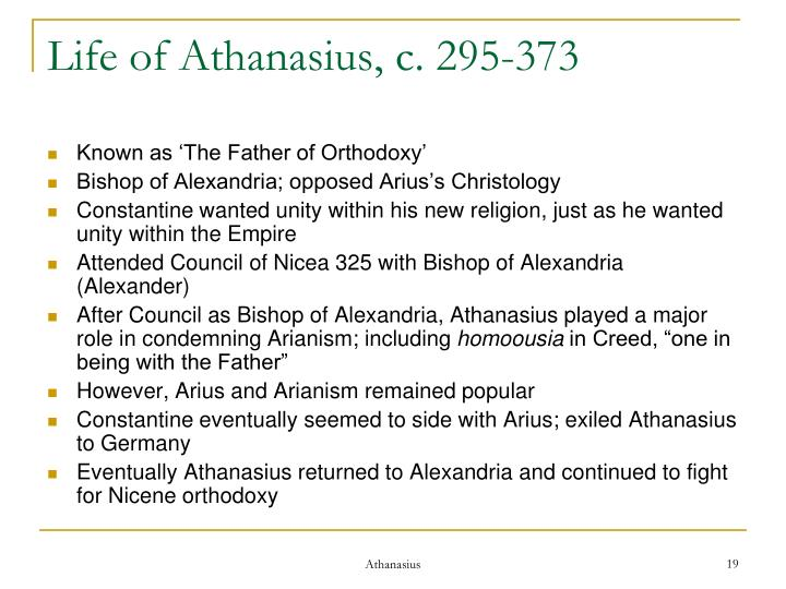 Life of Athanasius, c. 295-373