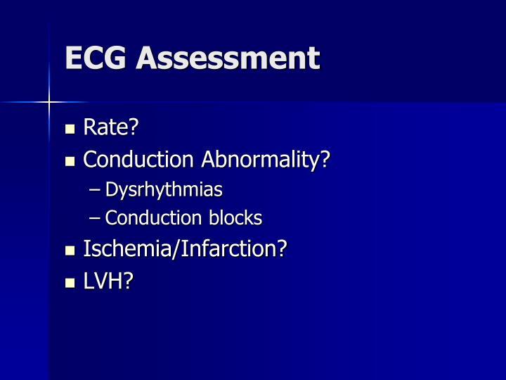 ECG Assessment