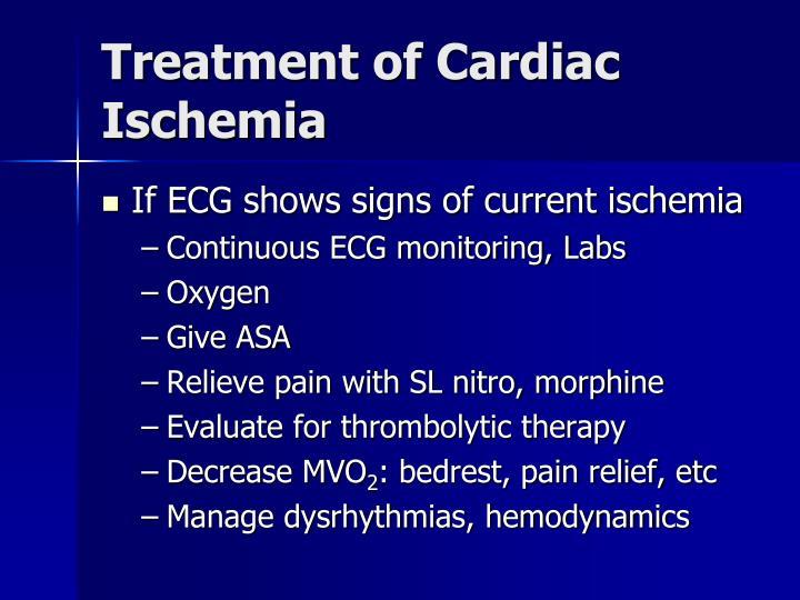 Treatment of Cardiac Ischemia