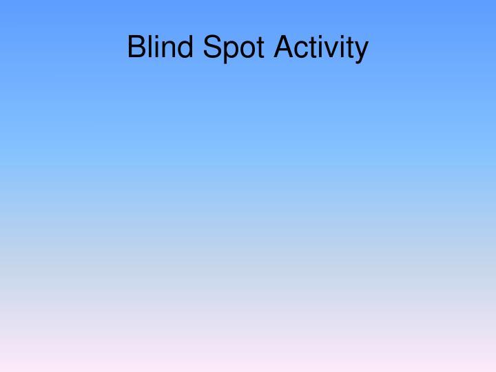 Blind Spot Activity