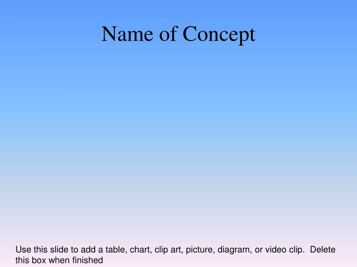 Name of Concept