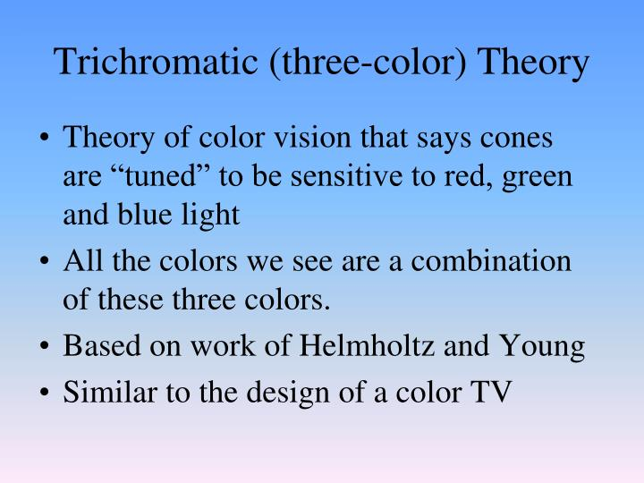 Trichromatic (three-color) Theory