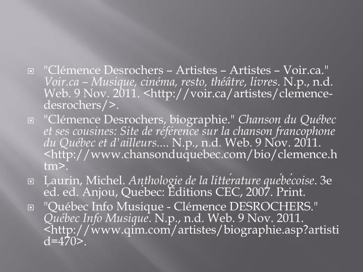"""Clémence Desrochers – Artistes – Artistes – Voir.ca."""
