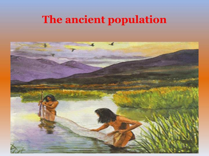 The ancient population