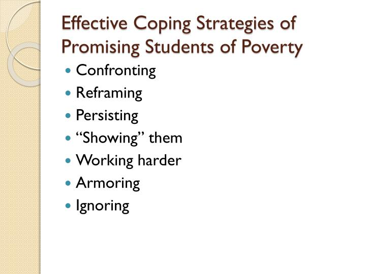 Effective Coping Strategies of Promising Students of Poverty