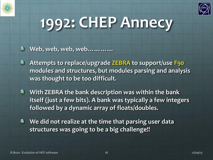1992: CHEP Annecy