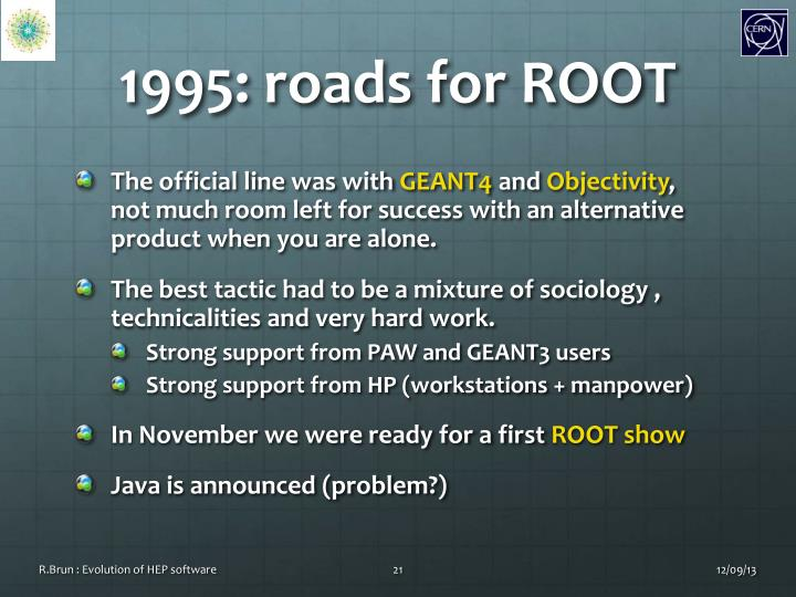 1995: roads for ROOT