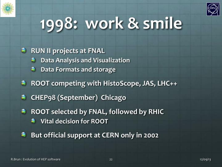 1998:  work & smile