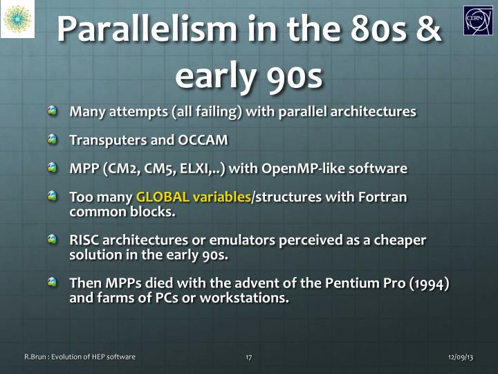 Parallelism in the 80s & early 90s