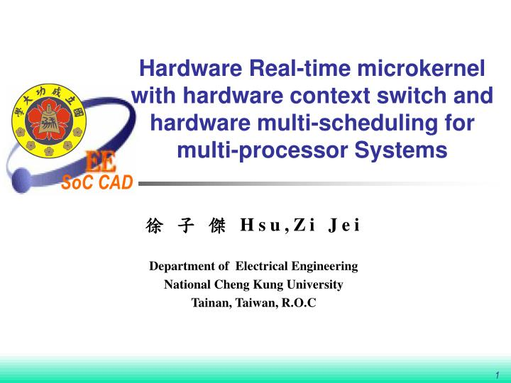 Hardware Real-time microkernel with hardware context switch and hardware