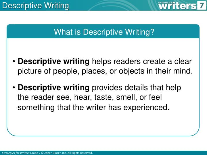 descriptive essay writing strategy acirc online writing service write an academic essay