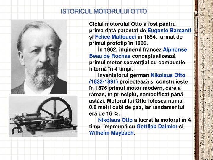 ISTORICUL MOTORULUI OTTO