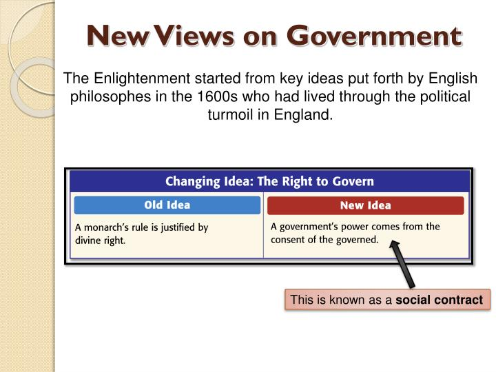 New Views on Government