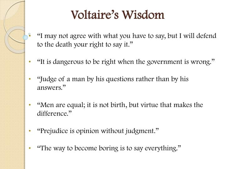 Voltaire's Wisdom