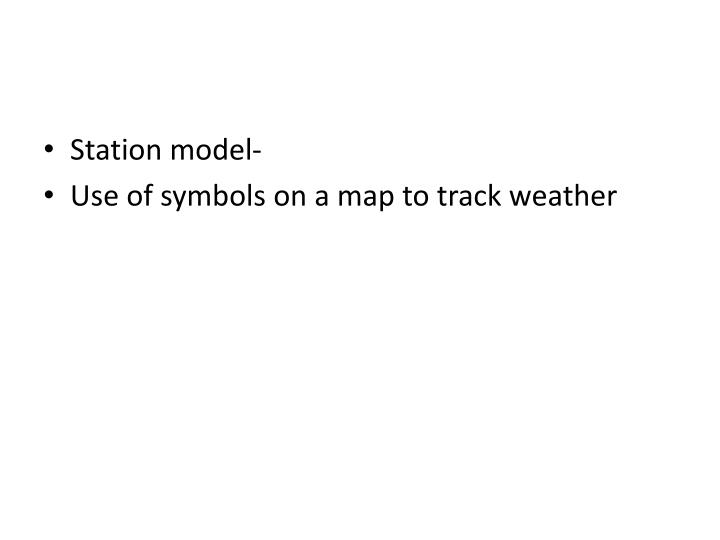 Station model-