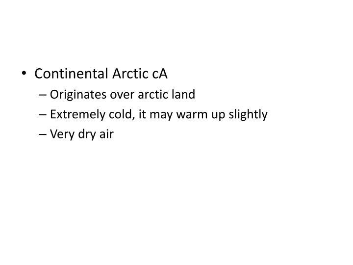 Continental Arctic