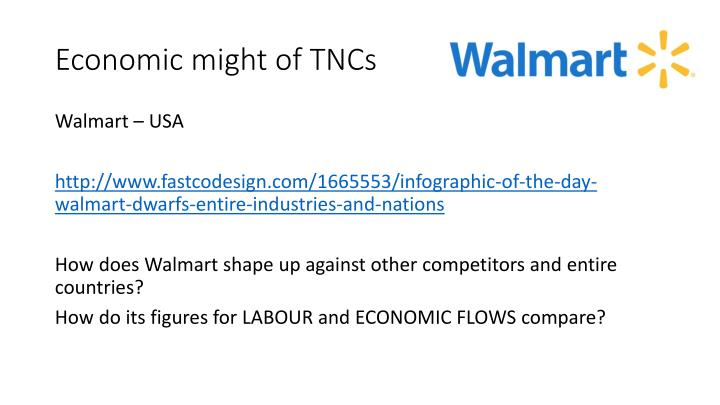 Economic might of TNCs