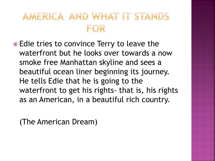 America  and what it stands for