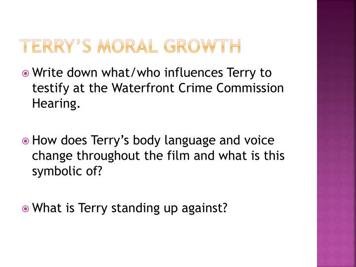 Terry's Moral growth