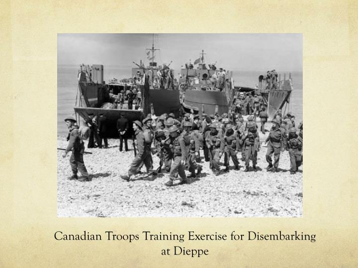Canadian Troops Training Exercise for Disembarking at Dieppe