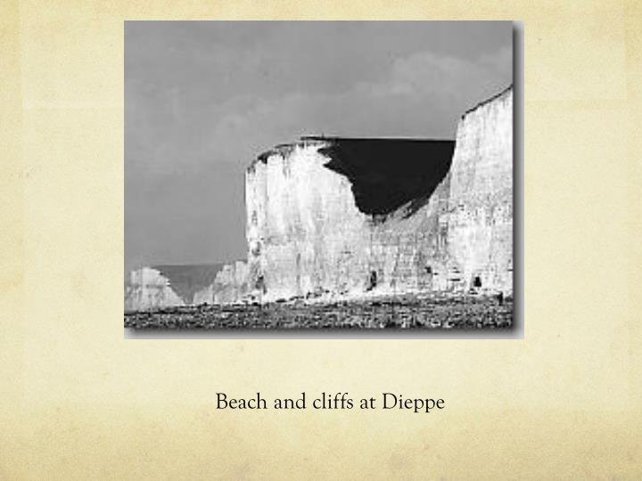 Beach and cliffs at Dieppe