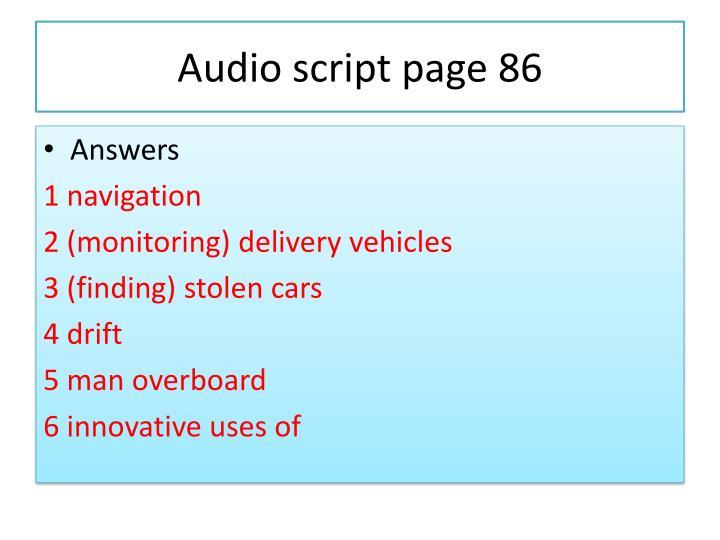 Audio script page 86