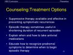 counseling treatment options