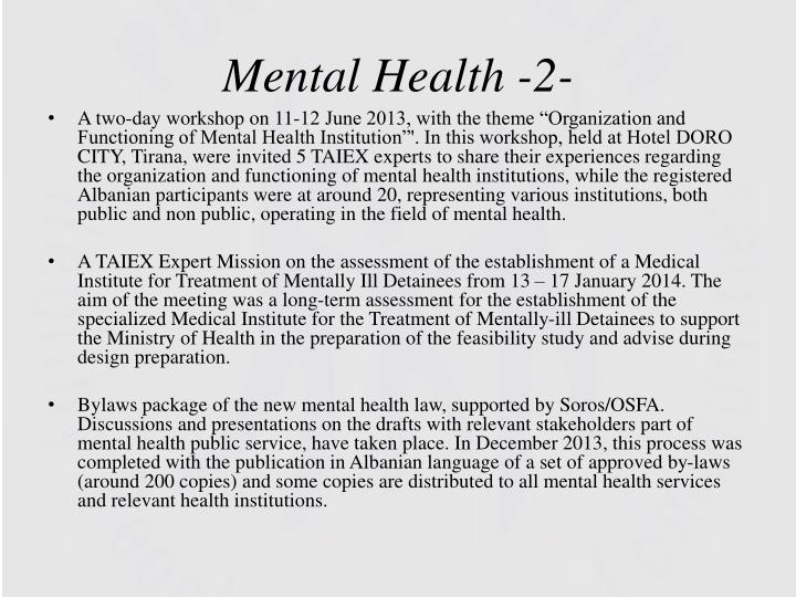 Mental Health -2-