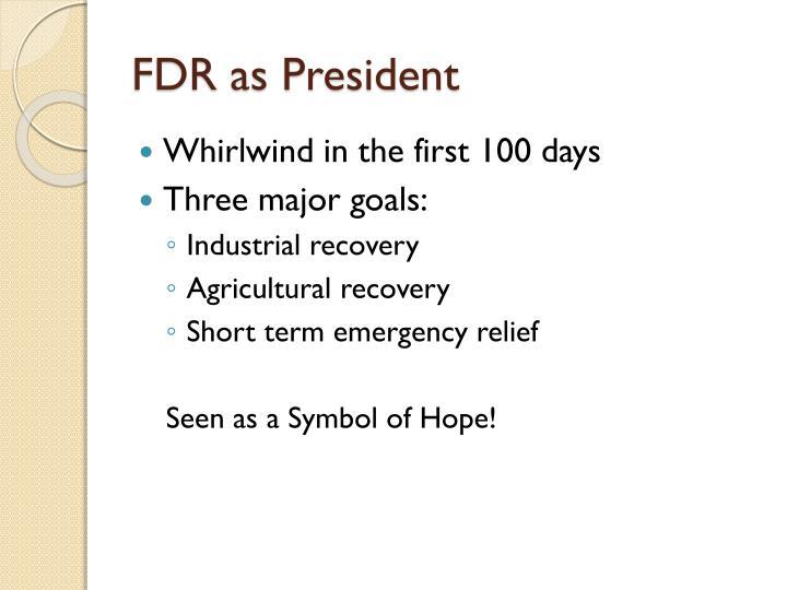 FDR as President