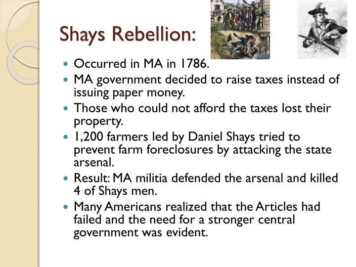 Shays Rebellion: