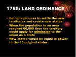 1785 land ordinance