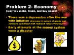 problem 2 economy way you make trade and buy goods